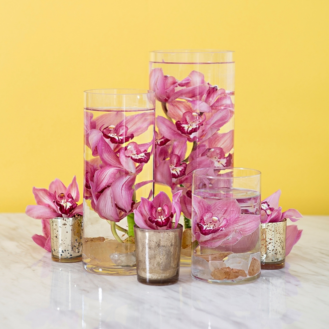 How to make submerged flower centerpieces!
