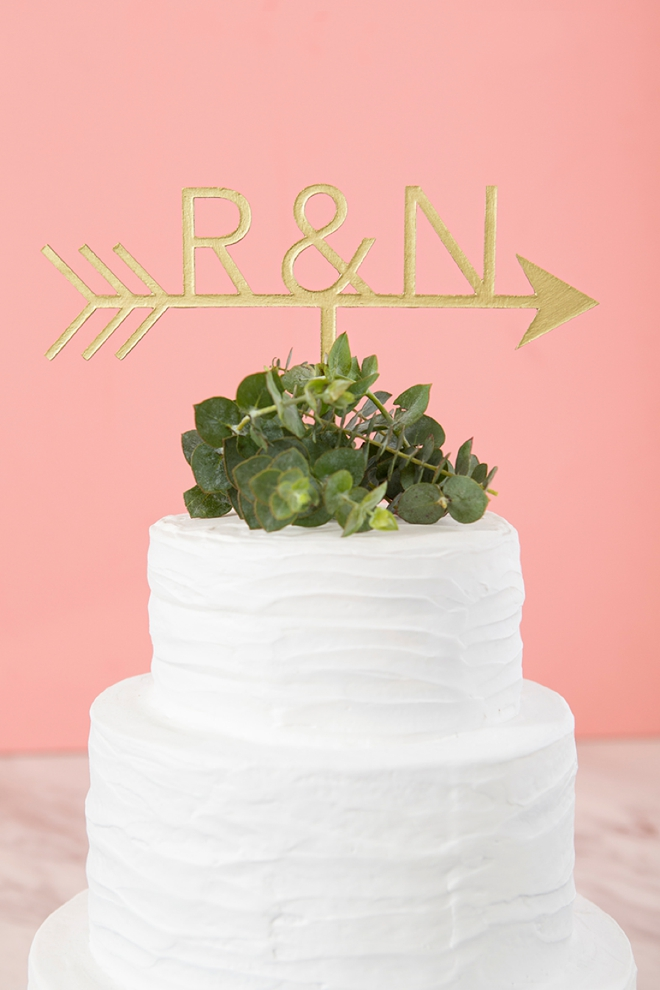 The Cricut Maker, makes it easy to make wedding cake toppers!