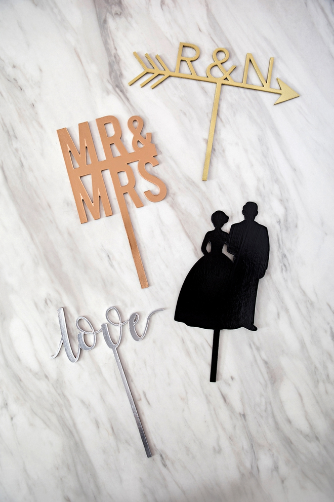 How to create your own custom wedding cake toppers!