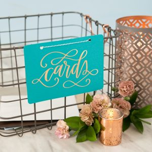 Grab our printable design to make your own wedding card basket!