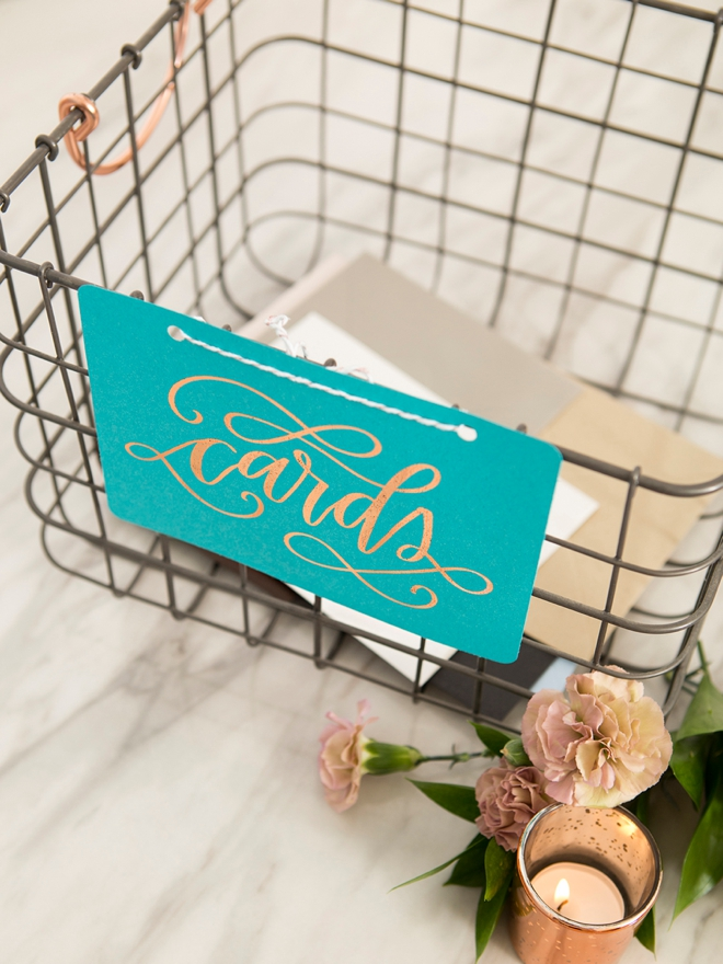 How to make the cutest wedding card baskets!