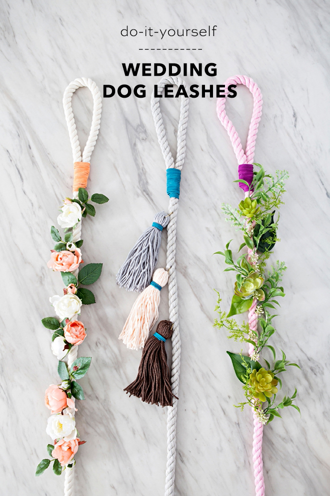 How to make the cutest wedding dog leashes!