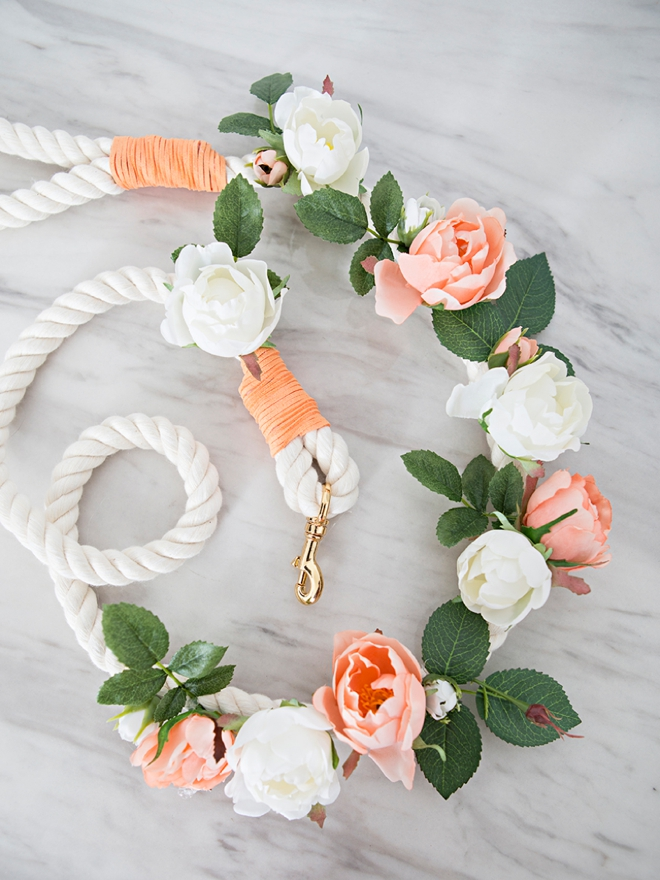 Make your own custom dog leash for your wedding day!
