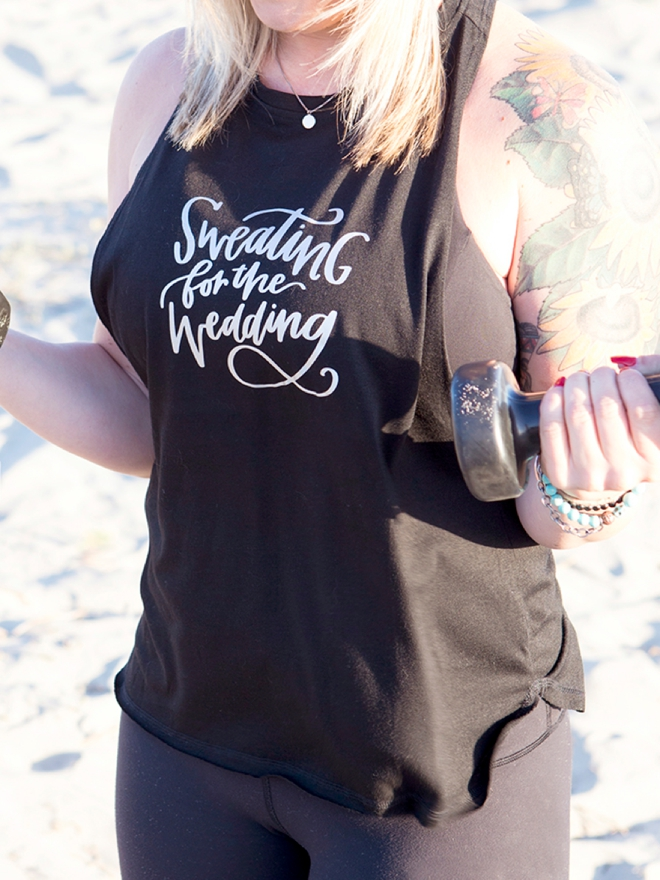 Make your own Sweating For The Wedding workout tank top!