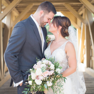 We're in LOVE with this Mr. and Mrs. and their stunning handmade day!
