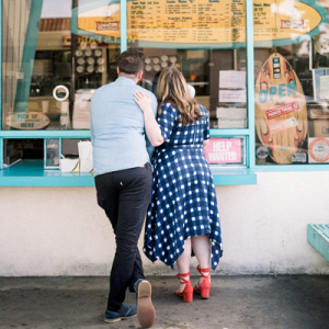 We're in LOVE with this couple and their adorable taco shop beach engagement!