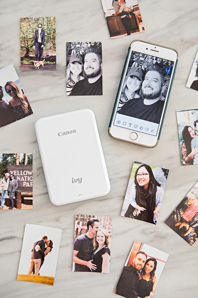The new Canon Ivy prints the most adorable photo stickers!