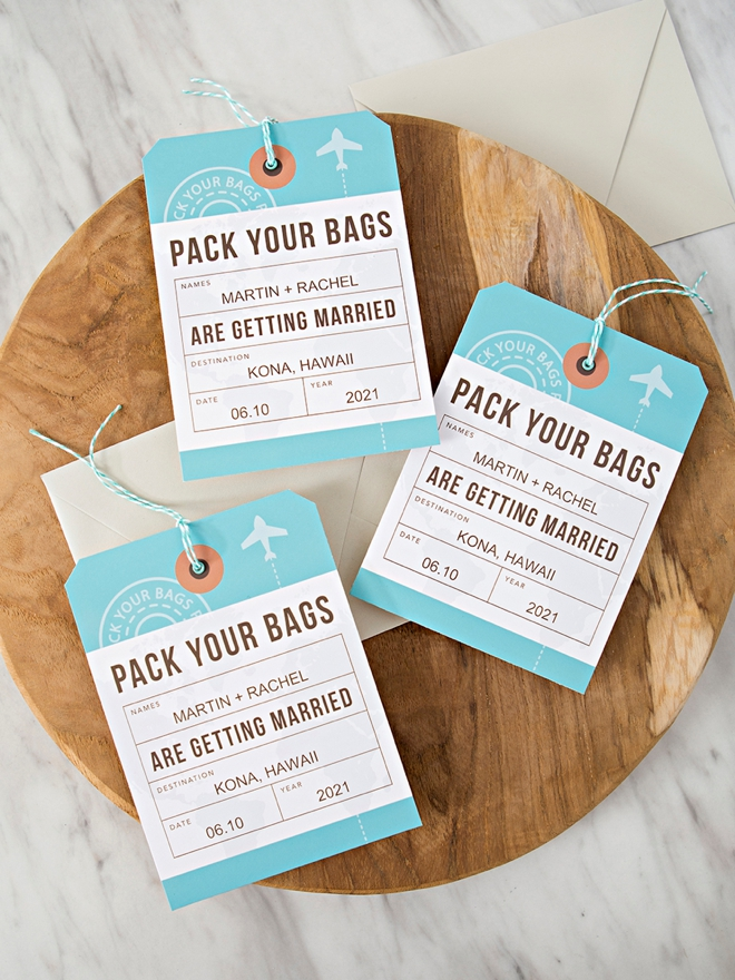 These are the cutest DIY destination wedding save the dates!