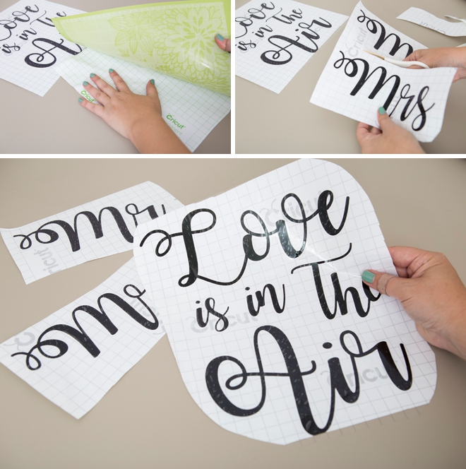 Learn how to make your own custom wedding balloon signs!