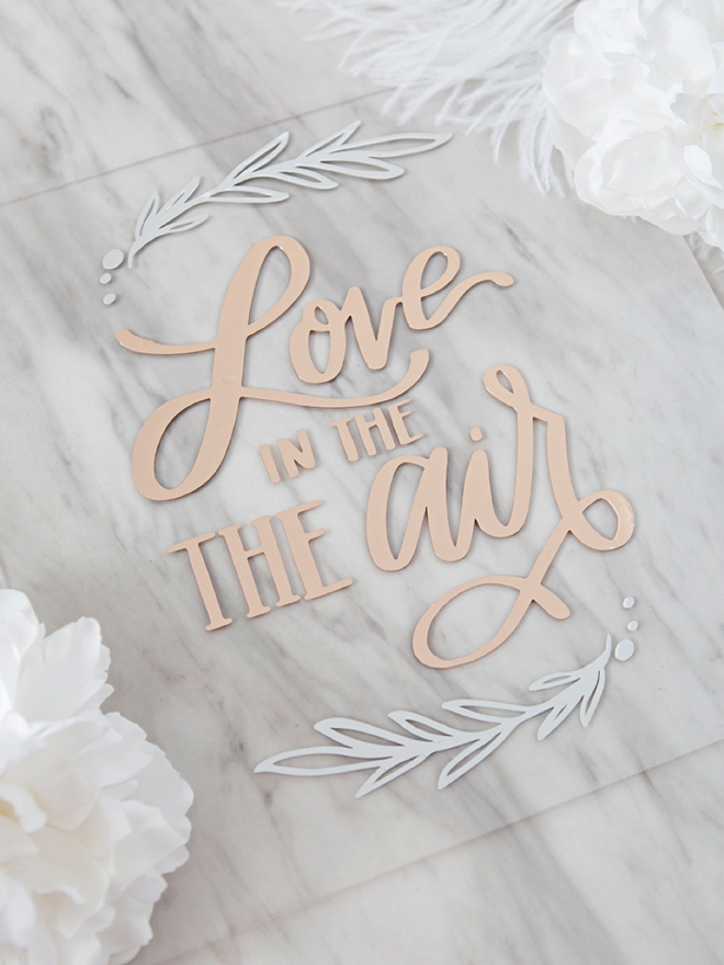 DIY Love is in the Air wedding sign!