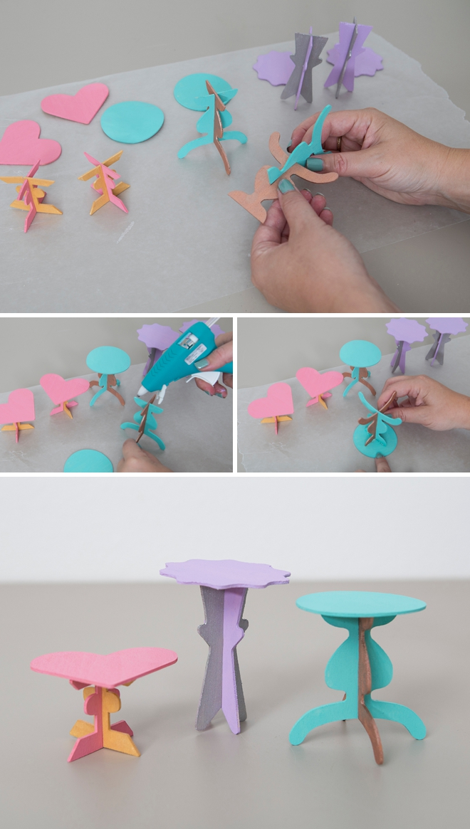 These DIY cupcake stands are the cutest!