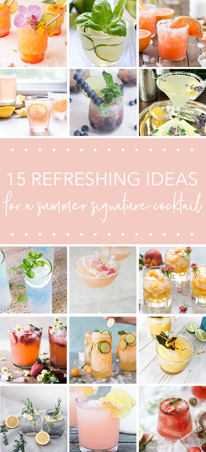 15 Ideas for a signature summer cocktail for your wedding