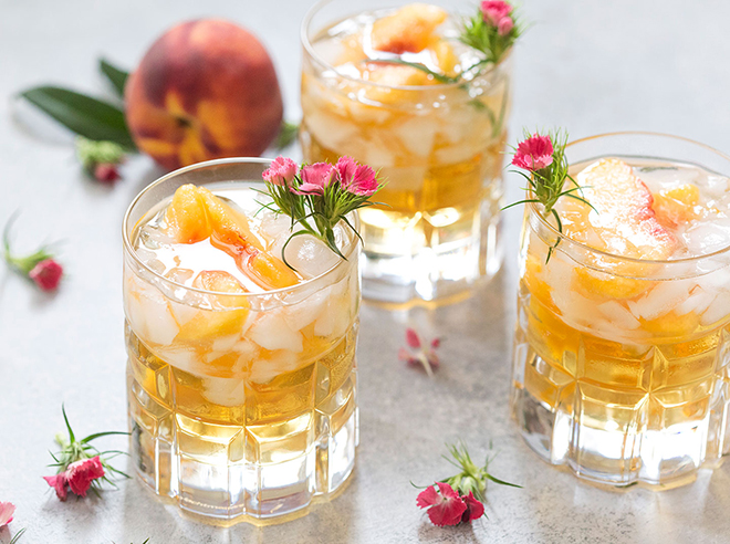 Peaches and summer (and bourbon) just go together.