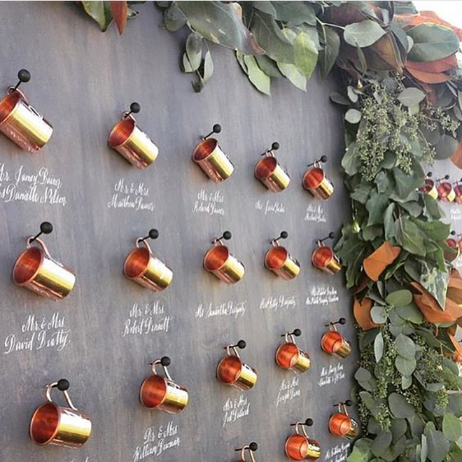 An escort card display is a great place to display a favor.