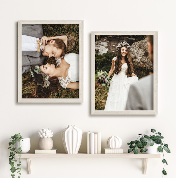 I will so do this with my wedding photos! How to decorate your home with custom (and cheap!) canvas prints.