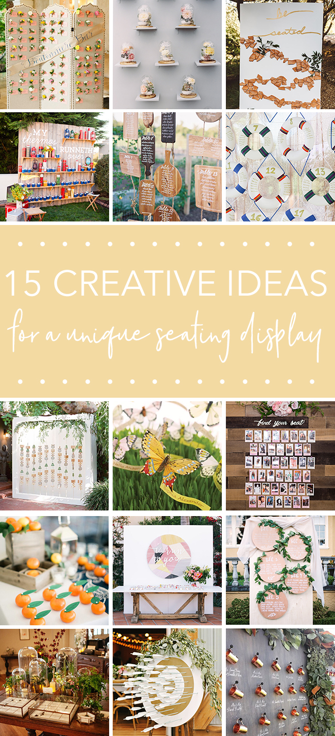 Unique and Creative Seating Chart Displays For Every Wedding!