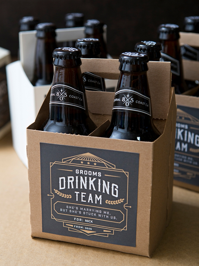 OMG, these DIY groomsmen beer gifts are the best!