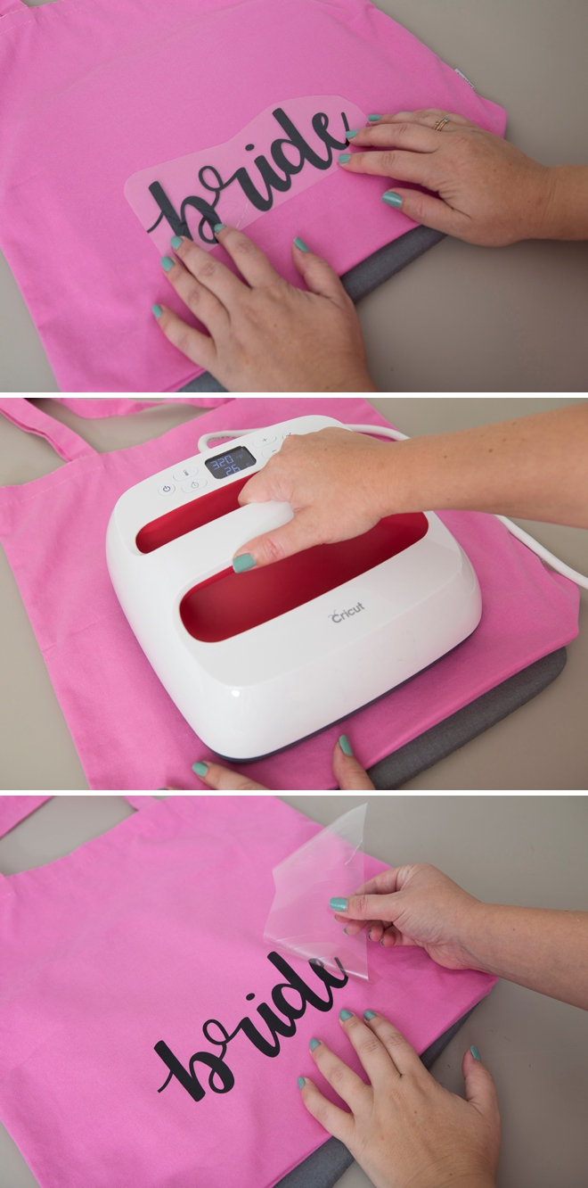 DIY Bridal Party Tote bags, the easy way, using the Cricut Explore!