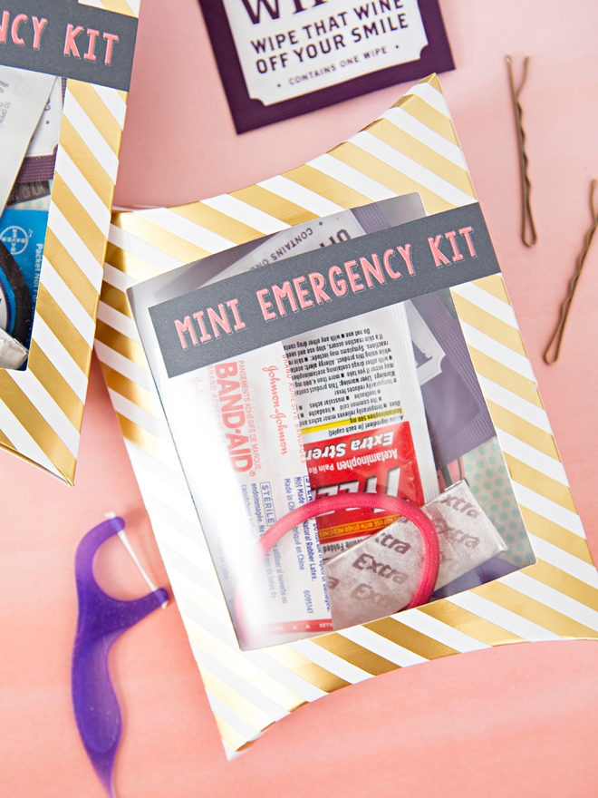 These DIY mini-emergency kits are perfect for your bachelorette party!