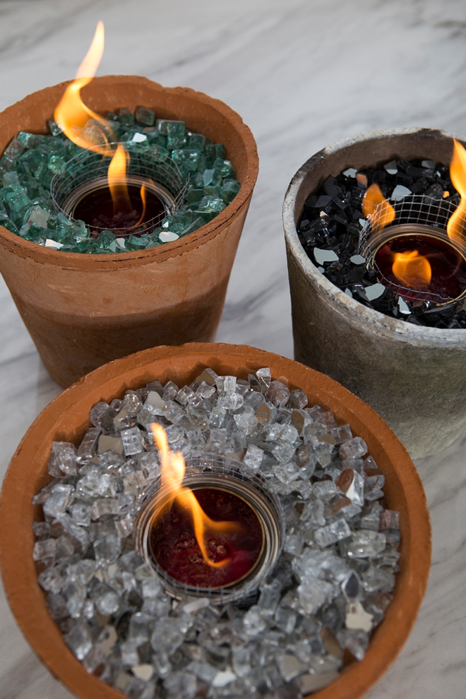 Learn how to make your own table top fire pits!