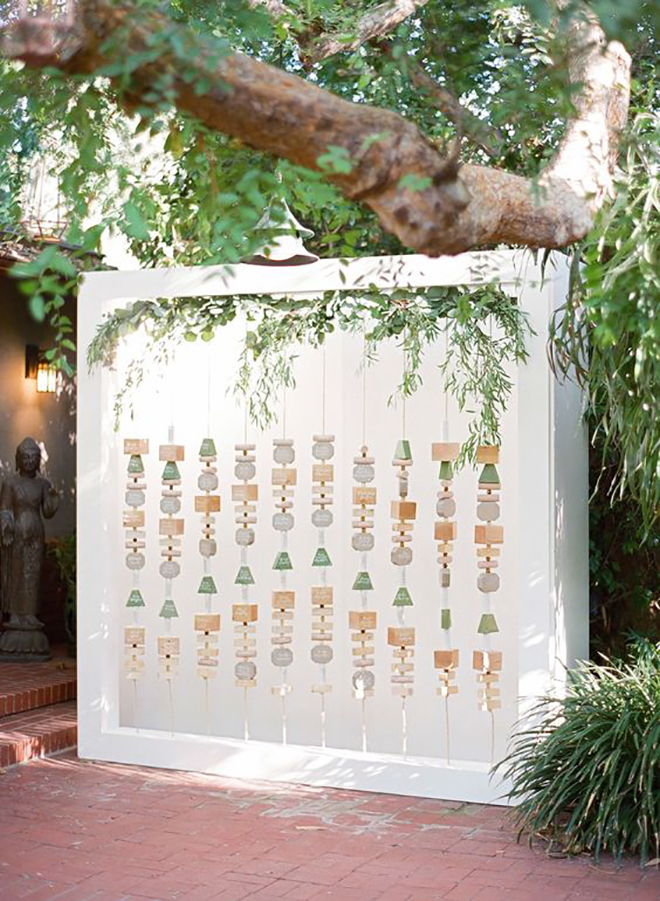 Wow your guests with a show stopping seating chart.