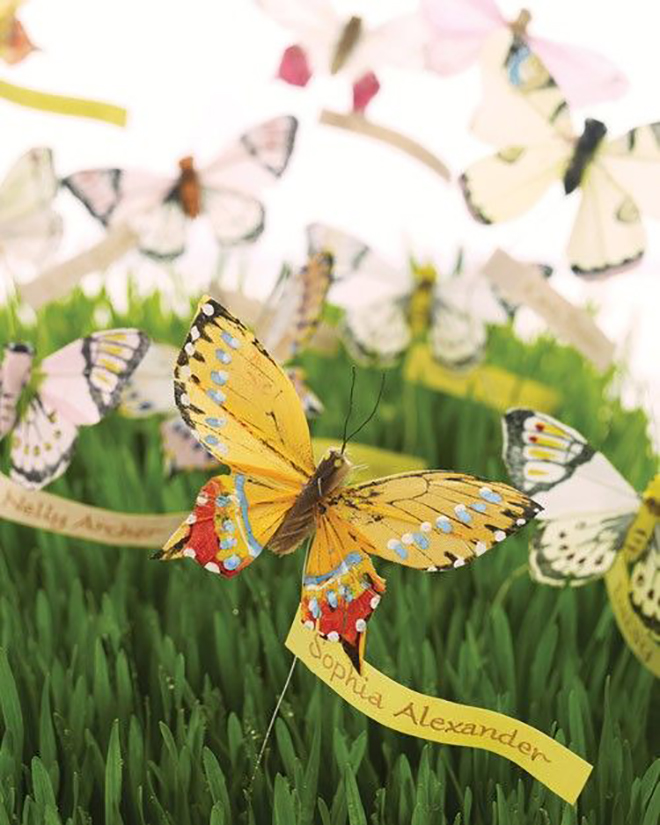 This beautiful butterfly display would be perfect for a spring wedding.