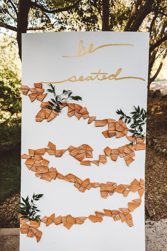 We our obsessed with with creative escort card displays!