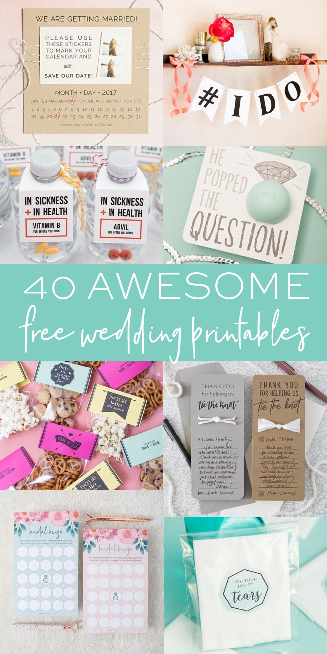 Free Wedding Printables.40 Awesome Free Wedding Printables Something Turquoise
