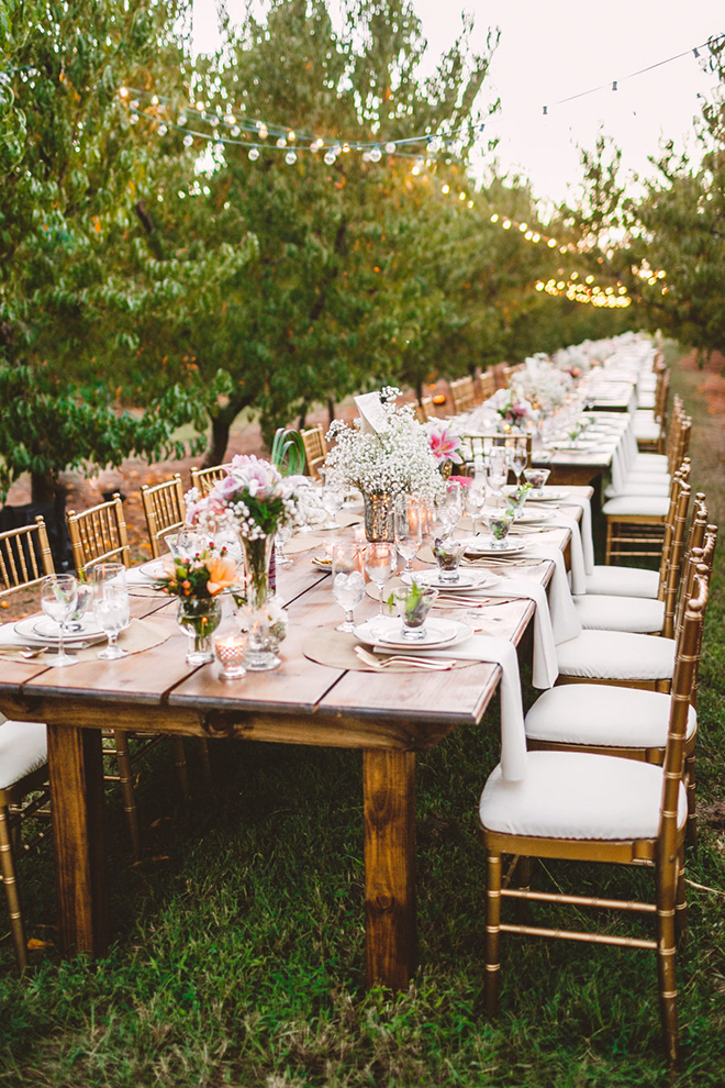 An intimate orchard wedding is always a great idea.