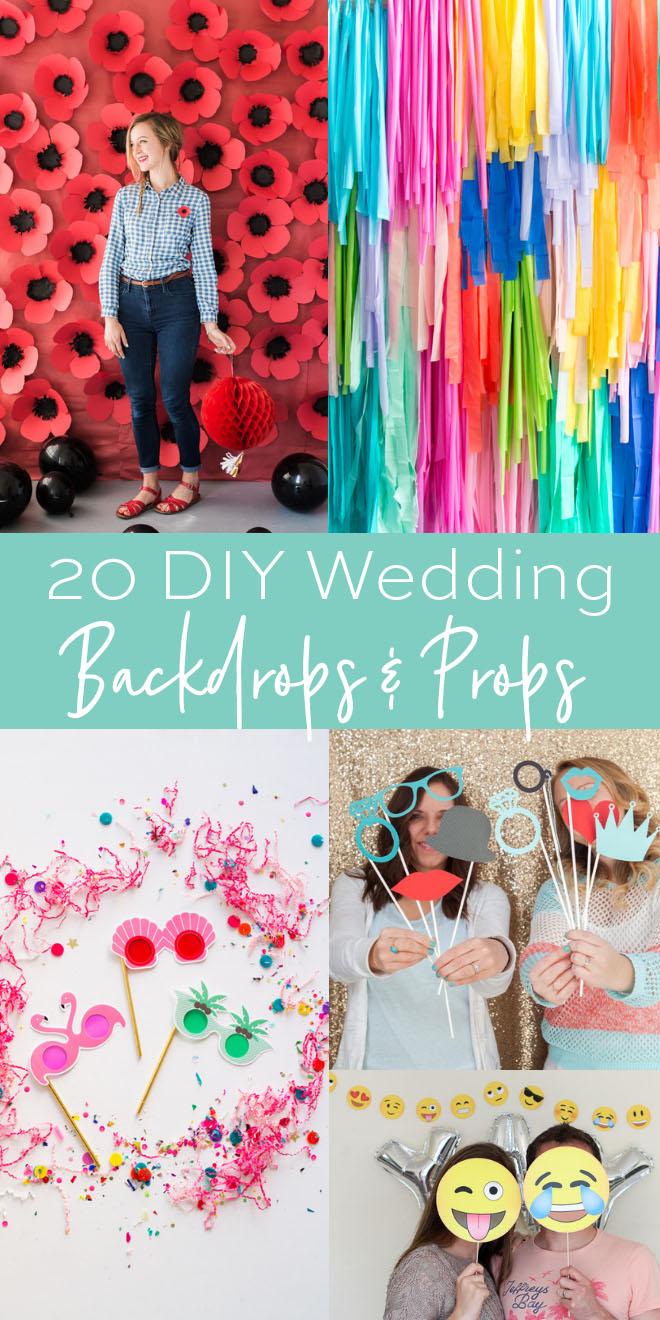 20 Fun DIY-able Wedding Photo Backdrops