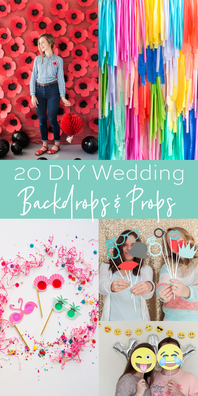 20 Fun Diy Able Wedding Photo Backdrops And Props