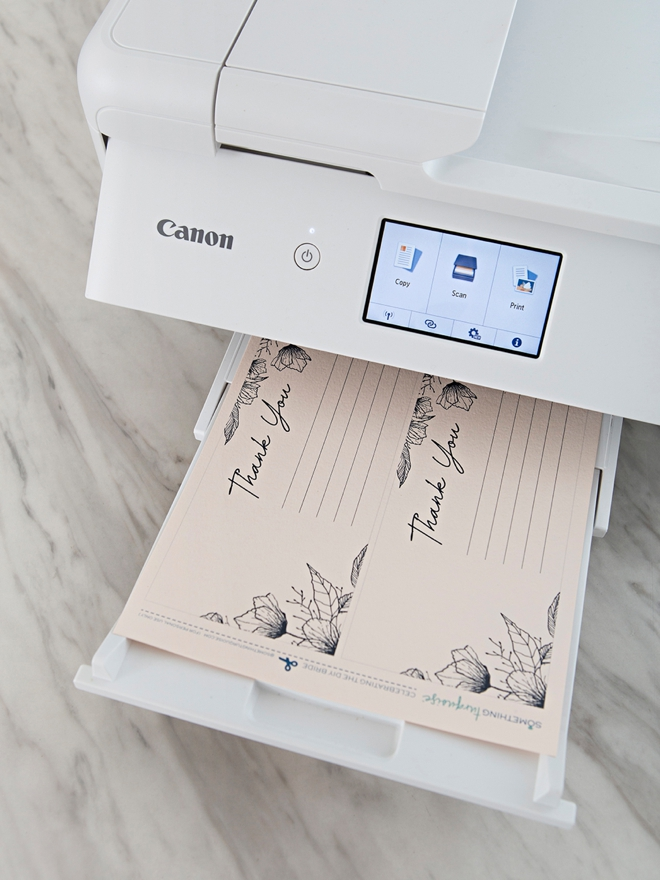 Free printable photo thank you cards with Canon!