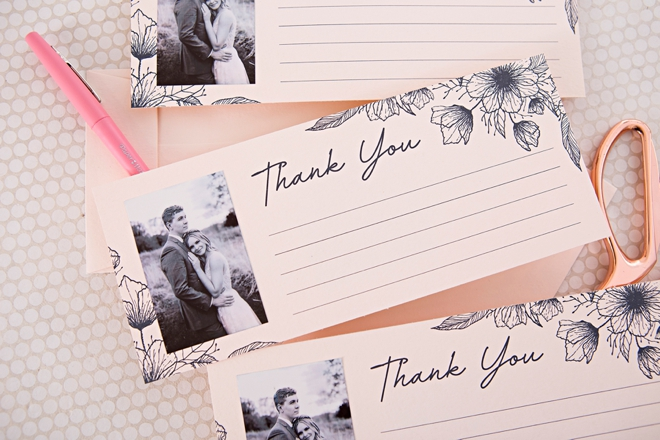 These DIY photo thank you cards are perfect for weddings, birthdays, or babies!