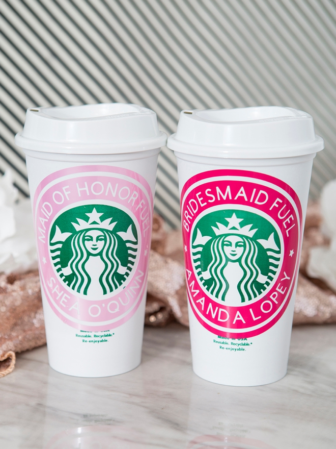 These personalized Starbucks cups are SO easy to make with your Cricut!