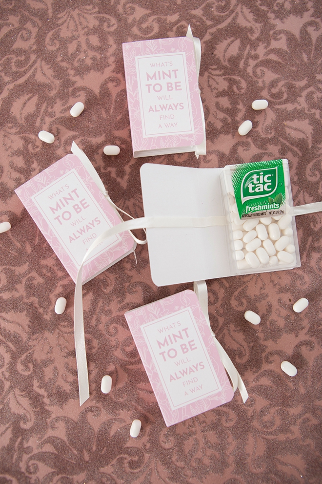 Free printable Tic Tac Mint To Be wedding favors!