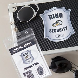 Make your own secret service style ring security kit for your ring bearer!