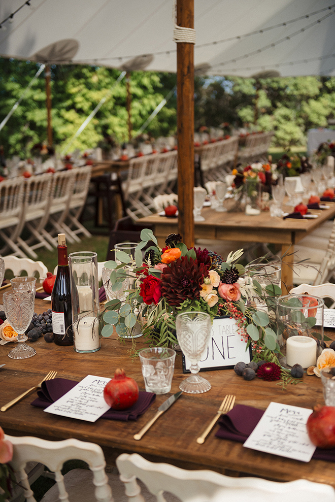All the pumpkin spice vibes for this fall wedding table.