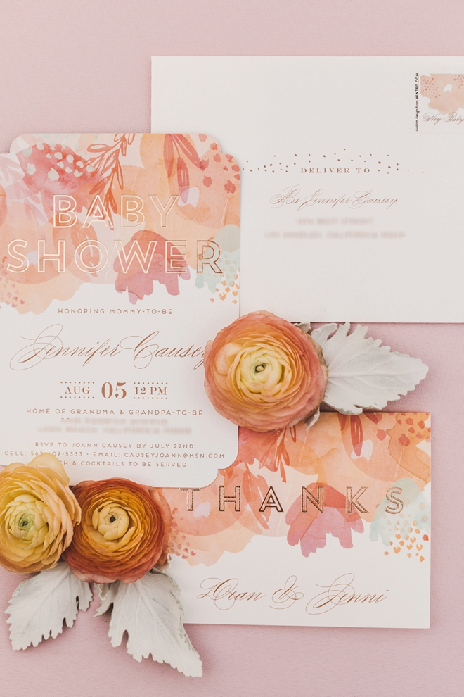 Gorgeous baby shower invitations from Minted.