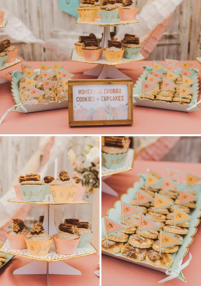 Churro themed baby shower dessert bar!