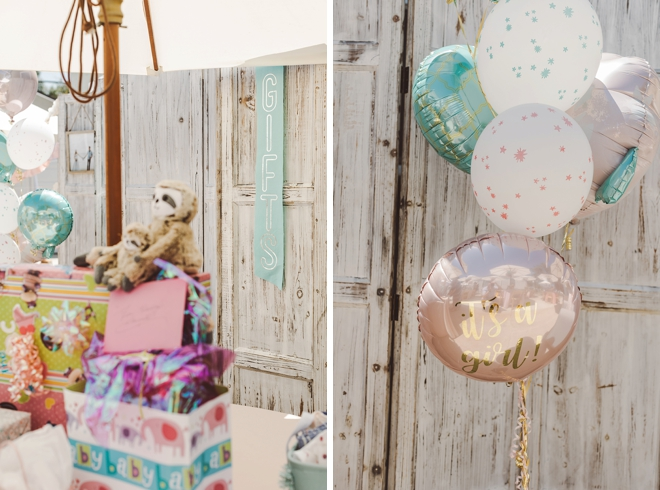 Check out this gorgeous, handmade mint and blush baby shower!