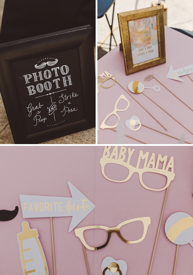 These baby shower photo booth props are the cutest!
