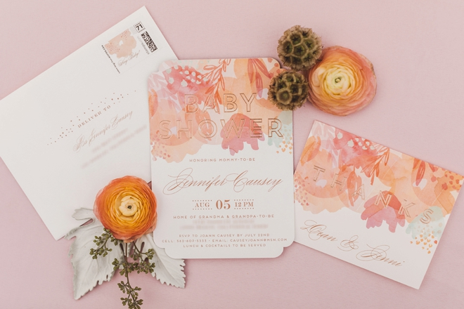 Gorgeous baby shower invitations and thank you cards from Minted!