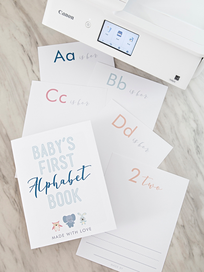 This FREE printable baby's first alphabet book is the absolute cutest!