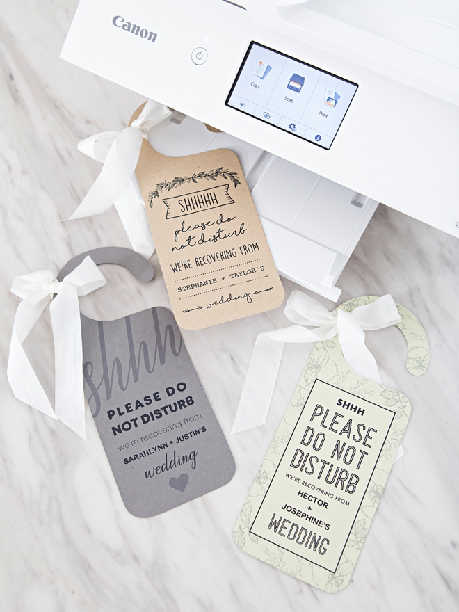 These FREE printable Do Not Disturb wedding signs are SO cute!