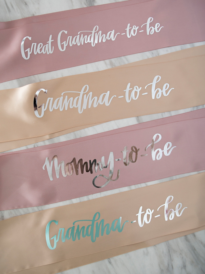 DIY Mommy-To-Be Sash made with the Cricut Explore Air2 Martha Stewart Edition!