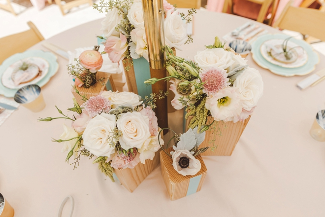 These DIY wood vase centerpieces are just gorgeous!