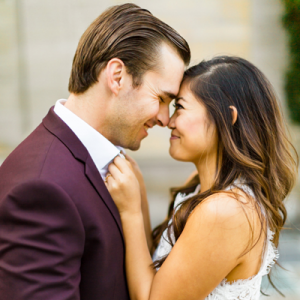 We're in LOVE with this couple's dressed up Greystone Manor engagement session!