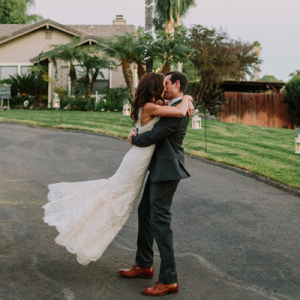 We're in LOVE with this adorable couple and their stunning backyard DIY wedding!