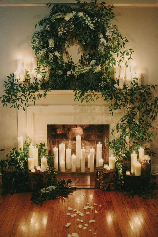 Must have winter wedding photos, a cozy fireplace.
