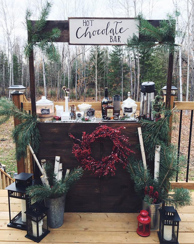 How about a hot chocolate bar for your winter wedding?
